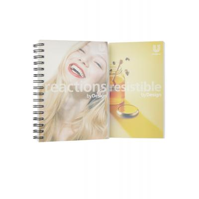 Image of A5 Wirobound Book - Clear Polypropylene Cover - Full Colour Flyleaf