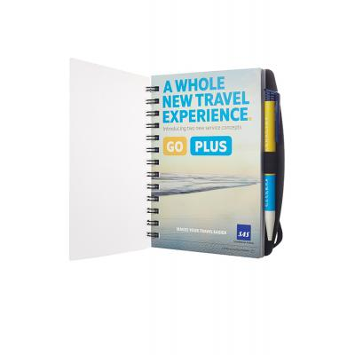 Image of Wirobound Journal with Pen Port - Full Colour Print with Polypropylene Cover