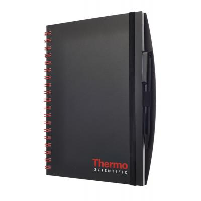 Image of Wirobound Journal with Pen Port - Opaque Polypropylene Cover - Foil Blocked