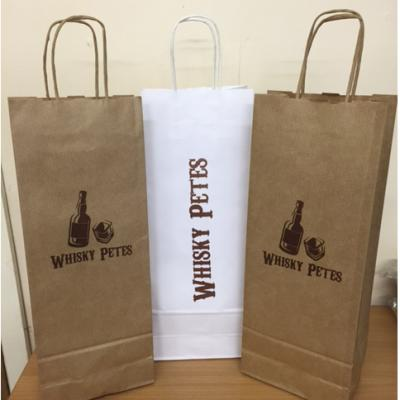 Image of Paper Twist Handle Bottle Bag