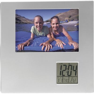 Image of Photo frame with digital clock