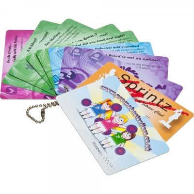 Image of Printed Plastic Cards (54 x 30mm 0.76mm thick)
