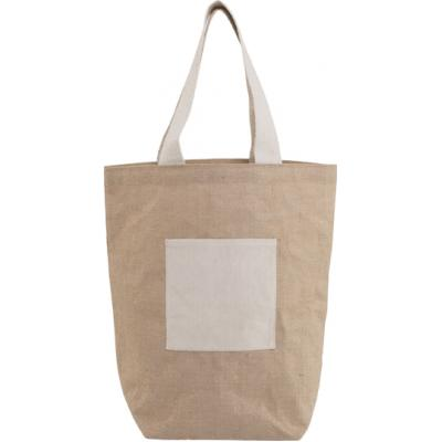 Image of Jute and cotton beach bag