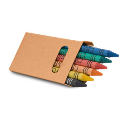 Image of Box With 6 Crayon