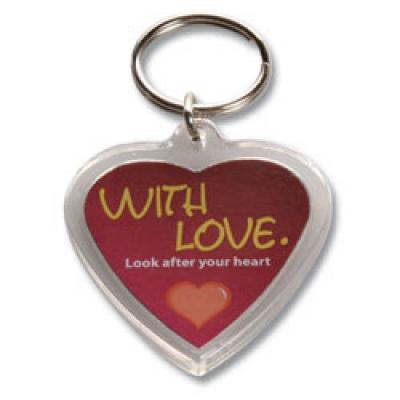 Image of Acrylic Heart Keyring