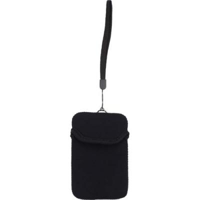 Image of Neoprene mobile phone pouch with wrist strap.