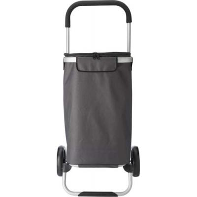 Image of Groceries trolley in a polyester 320g grey material.