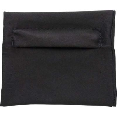 Image of Elasticated polyester wrist wallet with zipped pocket.