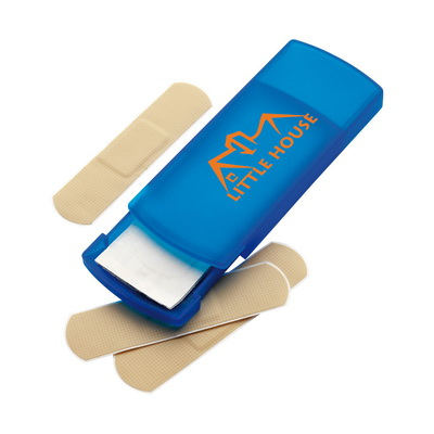 Image of Plastic pocket case with five plasters