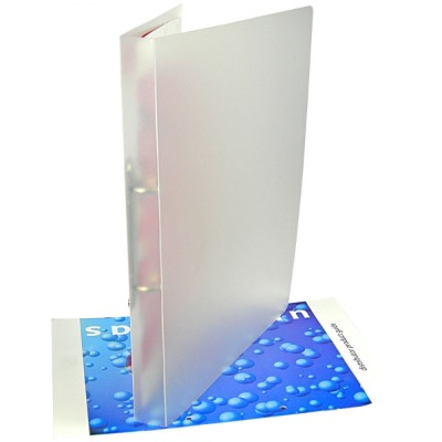 Image of Polypropylene Ring Binder - Frosted Clear