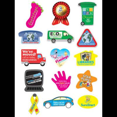 Image of Rectangular Sticker: 25 x 76mm 21 per sheet