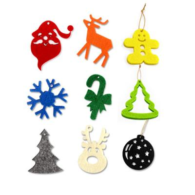 Image of Recycled FELT echo Christmas baubles