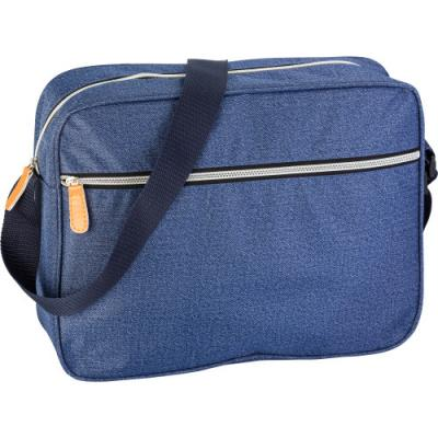 Image of Polyester laptop bag in denim look