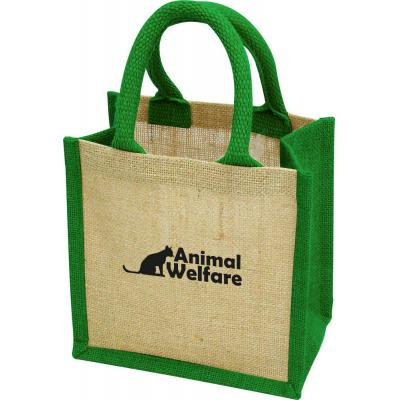 Image of Green & Good Wells Tiny Jute Gift Bag | Branded Eco Friendly Bag