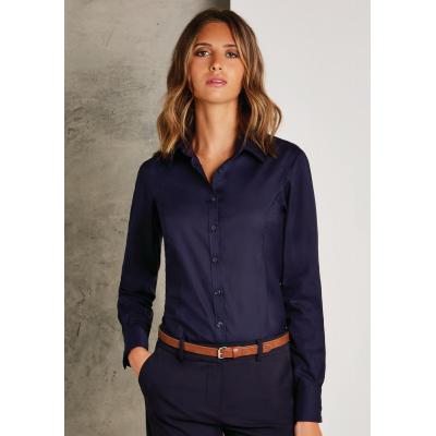 Image of Tailored Fit Long Sleeve Business Shirt